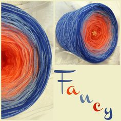 Fancy: Material: Hochbauschacryl 4 Farben: orange mandarine mittelblau königsblau