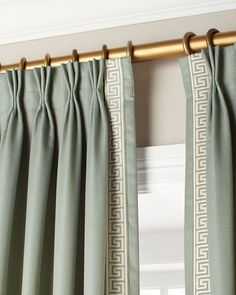 Shop luxury curtains and curtain hardware at Neiman Marcus. Drape your windows in what you love with embroidered curtains and window accessories. Pinch Pleat Curtains, Pleated Curtains, Window Curtains, Window Shutters, Blackout Curtains, Valance, Drapes And Blinds, Drapery Panels, Cream Curtains