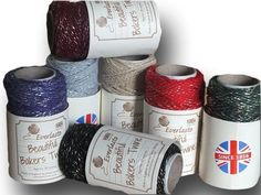 "Everlasto ""Beautiful"" Bakers Twine Sparkle Craft Pack - 7 x 20m"