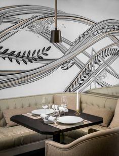 Restaurant Hexagone, avenue Kléber Paris 16e), décor signé Gilles & Boissier © Jérome Galland