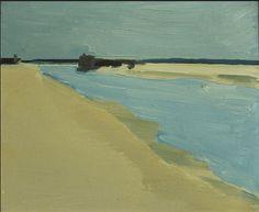""" ~de Stael~ Beach Landscape (1954) I never saw these last two de Stael paintings before… this painterly style. !! """