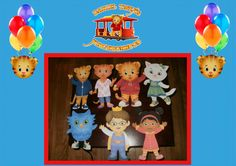 Daniel Tiger Cut Outs by HandmadePartyDecor on Etsy, $20.00