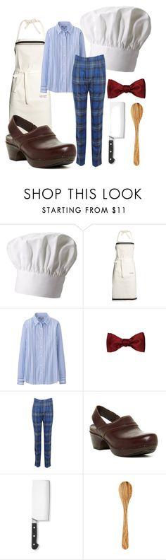 """Swedish Chef"" by houseofaracne ❤ liked on Polyvore featuring Fox Run, H&M, Uniqlo, Band of Outsiders, Dansko and Zwilling J.A. Henckels"