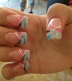 Mar 18 2020 - 50 beautiful nail art ideas for Spring Nails Design # Spring . Nail Tip Designs, Cute Summer Nail Designs, Cute Summer Nails, French Nail Designs, Nail Designs Spring, Simple Nail Designs, Beautiful Nail Designs, Beautiful Nail Art, Spring Nails