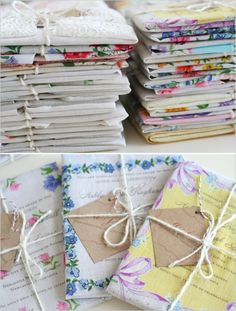 vintage handkerchief  invitations