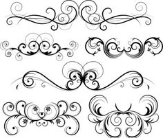 Filigree Patterns Free Download | Free Ornate Vector Swirls - Download free Other vectors