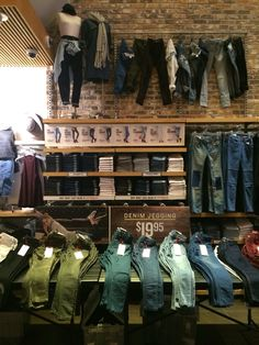 Womens denim wall