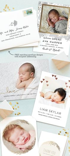 It's a boy! Shine his light on the world with a unique foil-pressed birth announcement from the Minted community of artists.