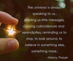 I believe there is no such thing as a happy coincidence, it's the universe loving you!!!