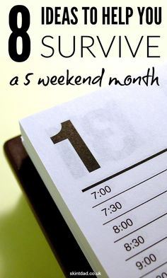 Not all months have four weeks and if you plan and budget for four weeks at a time, some months may be harder than others. There are ways to plan around and ideas to help if you're caught short of cash during a 5 weekend month.