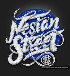 T-Shirt Design - Nesian Street by Marcelo Schultz, via Behance