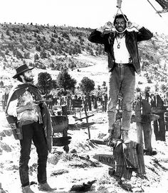 Blondie/The Good (Clint Eastwood) and Tuco/The Ugly (Eli Wallach) in Sergio Leone's epic Spaghetti Western, The Good, the Bad and The Ugly (1966).
