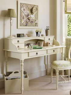 French 2 drawer desk styled for study - The Dormy House £340.00 painted