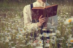 I know it is corny but in so many period dramas I see girls walking in a field reading and it always looks to be so charming