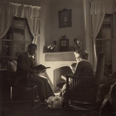 Family Reads at the Fireside, 1935