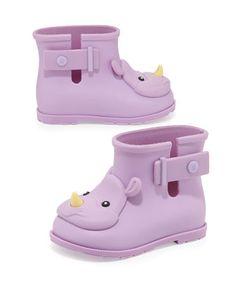 Girls\' Sugar Rhino Rain Boots, Purple  by Melissa Shoes at Neiman Marcus.