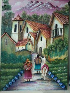 Cuban Art, Mexican Art, Beautiful Drawings, Beautiful Paintings, Arte Latina, Peruvian Art, Latino Art, Ganesha Painting, Art Village