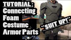 Cosplay Ideas Connecting foam costume armor parts tutorial - Cosplay Armor, Male Cosplay, Cosplay Diy, Halloween Cosplay, Best Cosplay, Halloween Costumes, Cosplay Ideas, Halloween 2020, Costume Tutorial