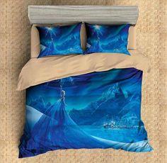 Customize Duvet Cover Set Frozen Elsa 4PCS Bedding Set Flat Sheet Pillowcases Bedlinen - Three Lemons Hometextile