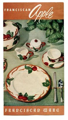 Coffee or Tea, Cup and Saucer, Fransican Earthenware in the Apple ...