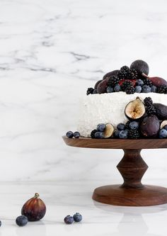 sarah sherman samuel x melanie abrantes // cake stands Pretty Cakes, Beautiful Cakes, Rustic Italian Wedding, Fig Cake, Blueberry Cake, Eat Dessert First, Love Cake, Artisanal, Love Food