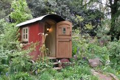 The inspirational Plankbridge Shepherd's Hut Garden at the Chelsea Flower Show