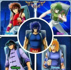 Seiya, Shun, Ikki, Shiryu et Hyôga http://amzn.to/2qkMdK7