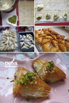 Einfach Şöbiyet – Serap Tuna – Join the world of pin Ramadan Desserts, Easy Desserts, Dessert Recipes, Turkish Recipes, Ethnic Recipes, Macedonian Food, Wie Macht Man, Puff Pastry Recipes, Food Words