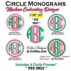 Image result for Free Monogram Fonts Circle PES