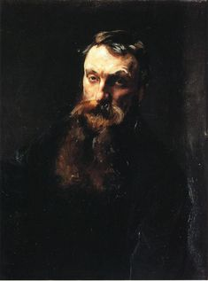 John Singer Sargent / Auguste Rodin, 1884. Oil on canvas. Musée Rodin, Paris.