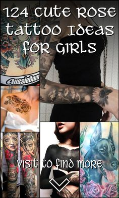124 Cute Rose Tattoo Ideas for Girls Flower Tattoo Designs, Flower Tattoos, Unique Roses, Cute Rose, Word Tattoos, Love Flowers, Tattoo Ideas, Floral Design, Vintage Fashion