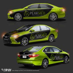 NASCAR inspired Toyota Camry car wrap design for company advertising by R.Roi