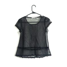 Kimchi Blue Sheer Top Super cute pre loved Kimchi Blue (Urban Outfitters) sheer black top. Looks super cute with a bandeau or tank underneath :) no snags or tears.  Size XS  No trades  No PayPal Kimchi Blue Tops