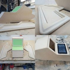 custom Center console for the 61 Impala is just about wrapped up. double din, ipad, iphone. how to build