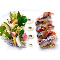Petite salade colorée de luxe, à savourer au bord de l'eau (Royal Monceau - Raffles Paris)