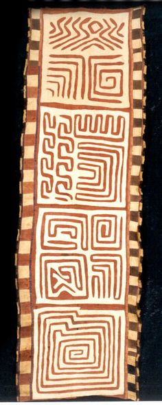 Africa | Four Panels from a Ceremonial Skirt from the Kuba peoples (Bushoong group) from the Kasai River region of DR Congo | Raffia palm fiber | 20th century