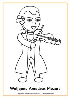 mozart colouring page
