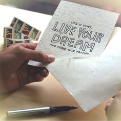 Live Your Dream Cards