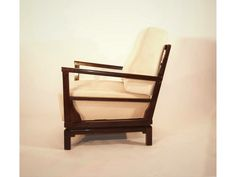 Vintage Lounge Chair in Cream by Lajos Kozma - FeelFreeFurnitures