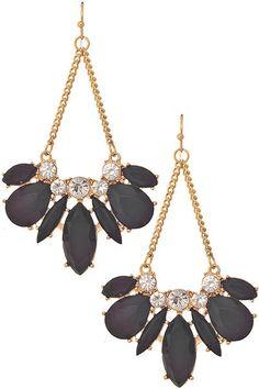 Empress Earrings in Black