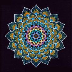 Mandala in Peacock-colors - Flickr - Photo Sharing!