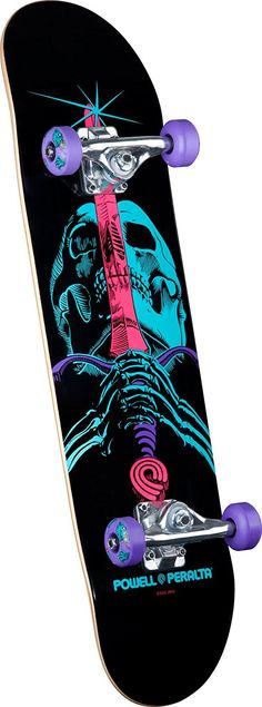 Powell-Peralta Blacklight Skull and Sword Complete Skateboard, Black, 7.93-Inch : Sports & Outdoors
