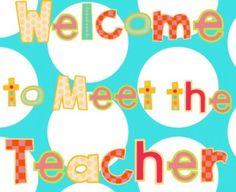 SmartBoard file for Meet the Teacher