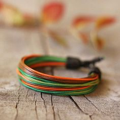 A colorful bracelet in nature-inspired hues. #etsyjewelry