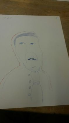 In onze eerste les hebben we een tekening gemaakt met een uitdrukking gemaakt en het moest duidelijk worden welke emotie erbij hoorde