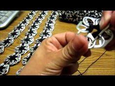 Como hacer una bolsa con anillas de lata: Bolsa de Flores Parte 1