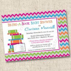 Bring a Book for Storeytime Custom Baby Shower Invitation