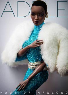 Bad Ass Black Barbie Adele/AA Barbie type doll with TWA!