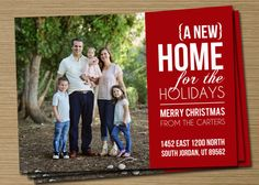 14 Best New Home Holiday Photo Card Images Holiday Photo Cards