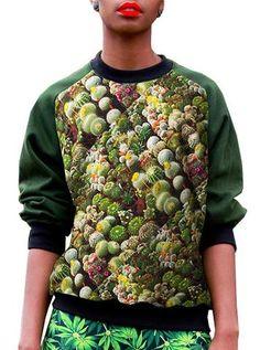 Cactus Print Sweatshirt Top – IDILVICE